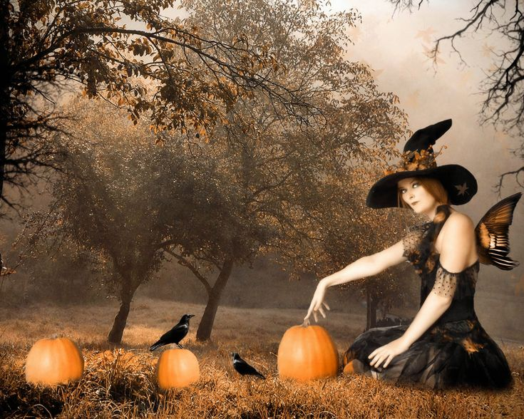 witches and pumpkins halloween historyhalloween - Halloween History Witches