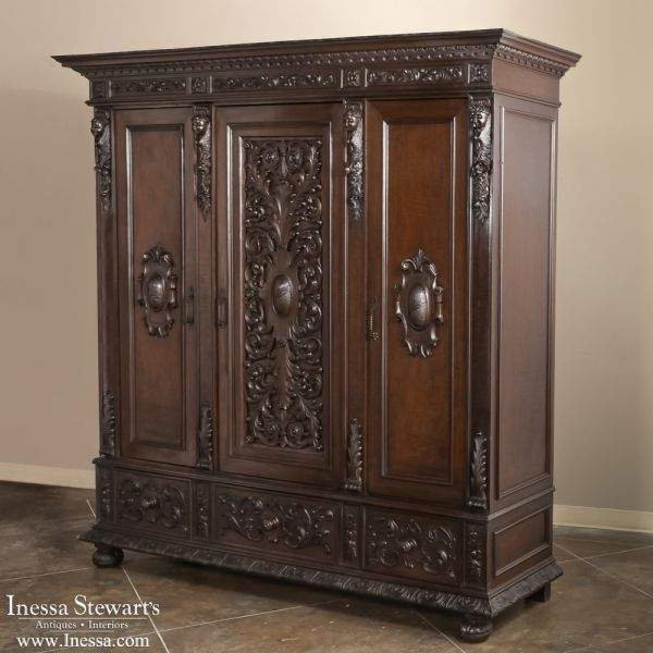 antique furniture armoire. antique furniture renaissancegothic armoires italian renaissance walnut armoire wwwinessa