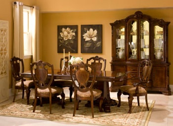 Dining Room Set  Raymour & Flanigan Old Worldfull Set W China Extraordinary Raymour And Flanigan Dining Room Set Inspiration