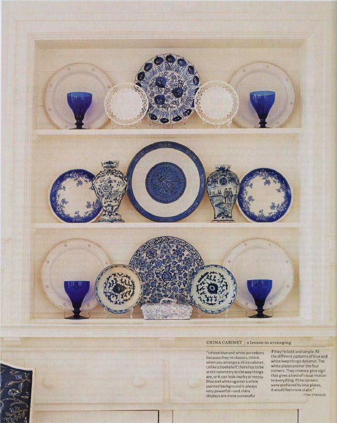 Decorative Plates For The Wall (blue U0026 White Themed Kitchen)