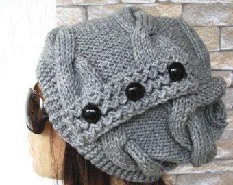 Punto Slouchy mujeres de sombrero sombrero hatoversized por Ebruk
