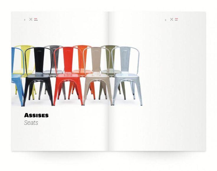Tolix catalog design; section header page