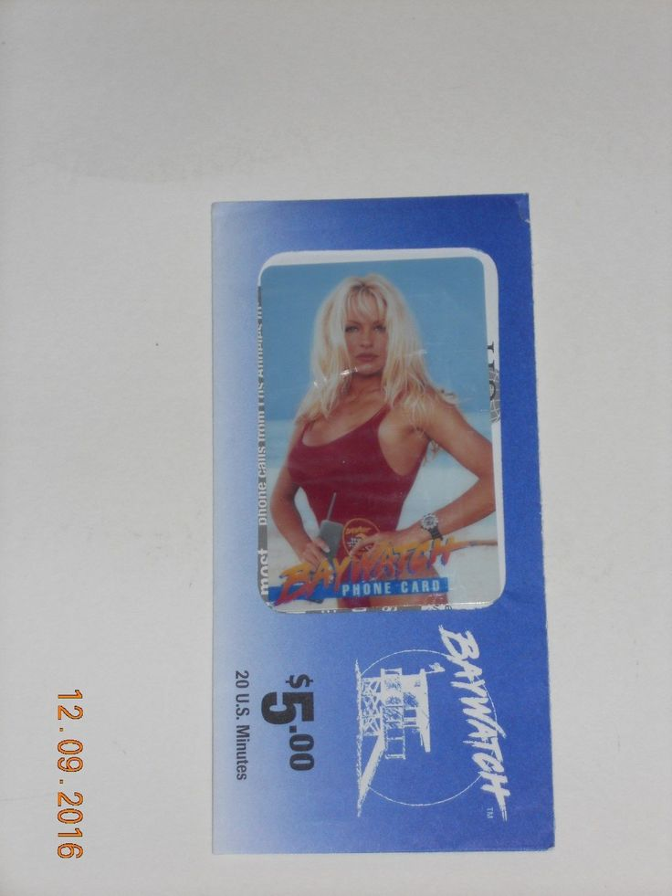 nice PAM ANDERSON BAYWATCH PHONE CARD   Check more at http://harmonisproduction.com/pam-anderson-baywatch-phone-card/