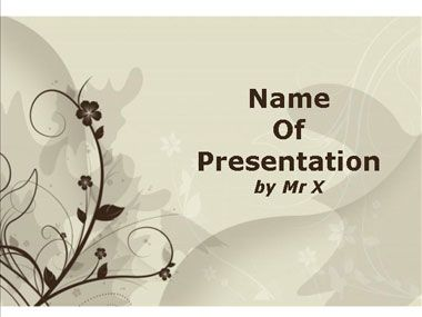 Brown Floral Background Powerpoint Presentation Template