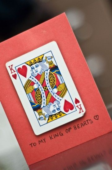 Biglietto di re di cuori