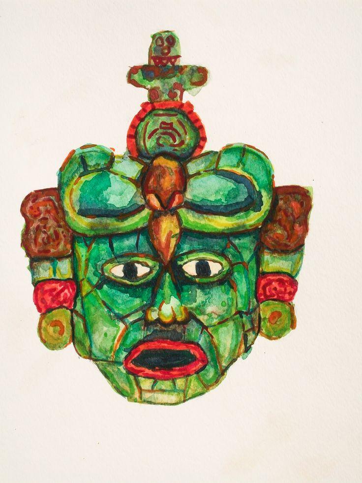 Mayan Mask   Mayan mask, Art, My arts