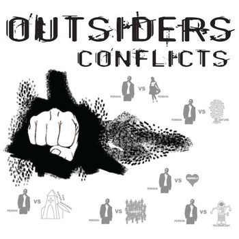 OUTSIDERS Conflict Graphic Organizer - 6 Types of Conflict (by S.E. Hinton)  NOVEL: The Outsiders by S.E. Hinton LEVEL: middle school (junior high), high school (secondary) COMMON CORE: CCSS.ELA-Literacy.RL.2  ANSWER KEY = Included!  This resource can be purchased as part of THE OUTSIDERS Unit Teaching Package (by S.E. Hinton).  Middleschoolers will subconsciously enjoy the design of this one-page graphic organizer as they take notes on the 6 different types of conflict.