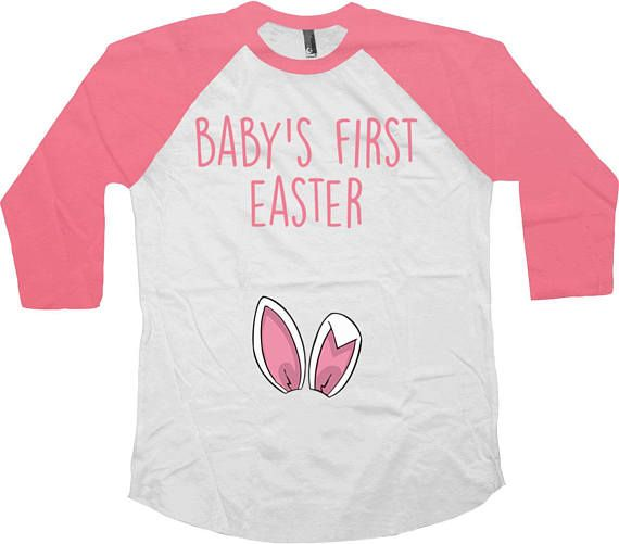 Easter Baby Announcement Pregnancy Reveal Baseball T Shirt