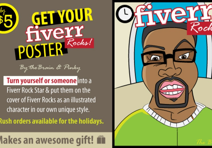 itmakesusales: create you a one and only fiverr rocks poster makes and awesome gift for $5, on fiverr.com