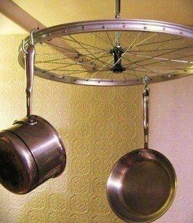 Or a pot rack.   41 Ways To Reuse Your BrokenThings