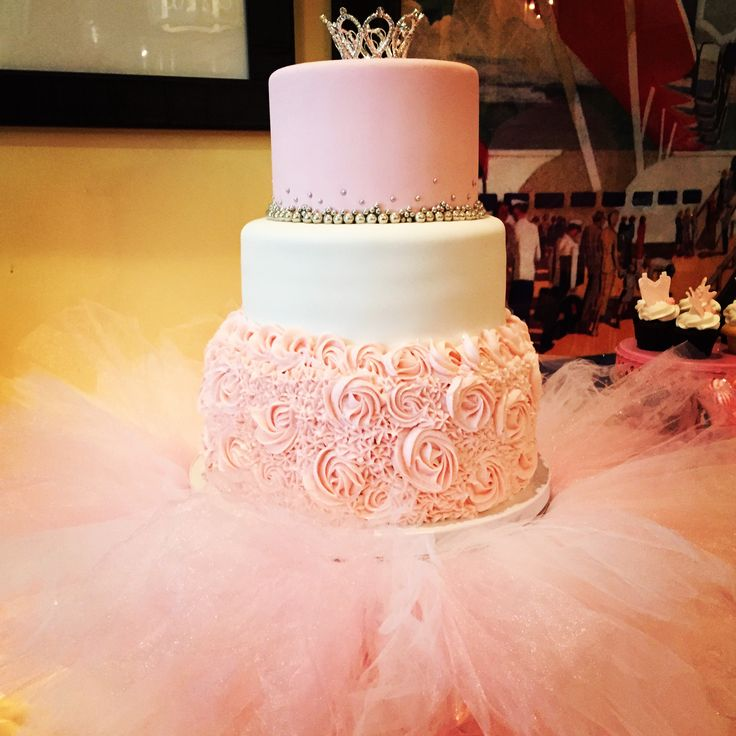 Love the tutu and bottom layer! I want a simple cake... so take off the top two layers and that's perfect!