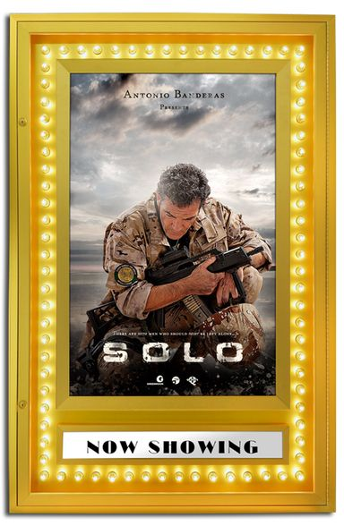 the lighting options for lighted movie poster frames