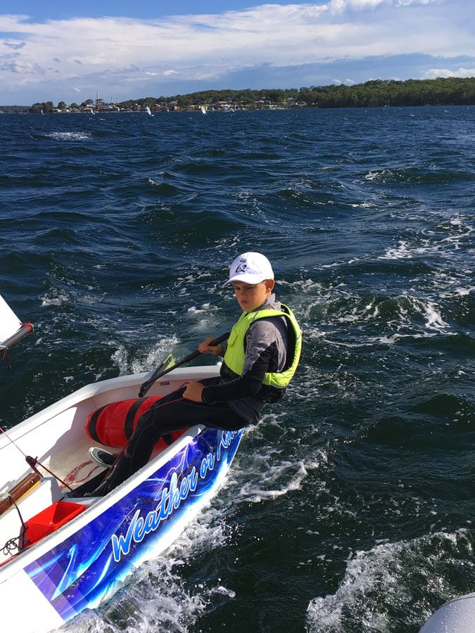 The latest addition to the OptiWraps fleet in action! - Optimist Sailing Dinghy Graphics