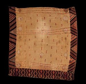 Kaitaka paepaeroa with ngore (cloak with taaniko borders and vertical aho, weft rows) - Collections Online - Museum of New Zealand Te Papa Tongarewa
