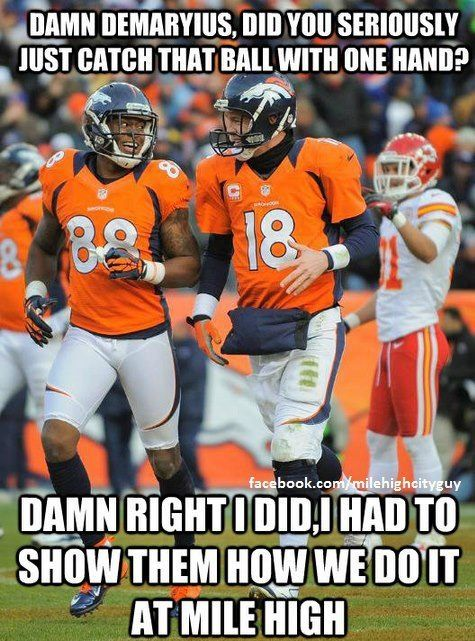 DeMarius Thomas and Peyton Manning