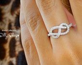 Infinity Knot Diamond Ring The Original: Celebrity Rings, The Knot, Knot Rings, Anniversaries Gifts, Diamonds Rings, Infinity Rings, Wedding Rings, Rights Hands Rings, Engagement Rings