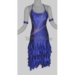 Sapphire Blue Ruffle Latin Rumba Mambo Dance Dress...someday