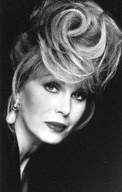 Joanna Lumley. Very tall charismatic lady,with apparently a view and story about everything.