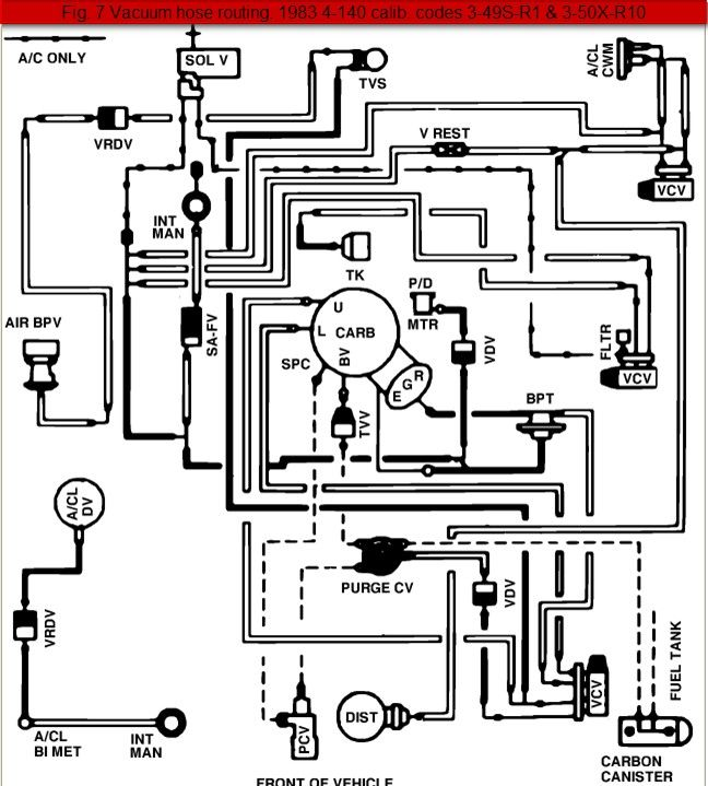 Ford Ranger Engine Vacuum Hose Diagrams