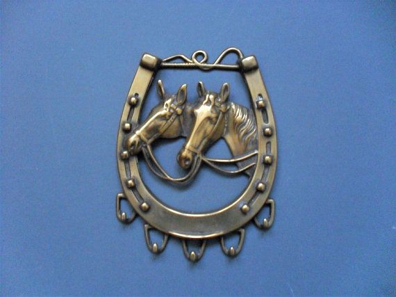 Brass Horse Harness Decoration Solid Brass Horse 3 By 3 Inches
