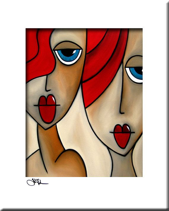 And She Was Original Abstract painting Modern pop by fidostudio