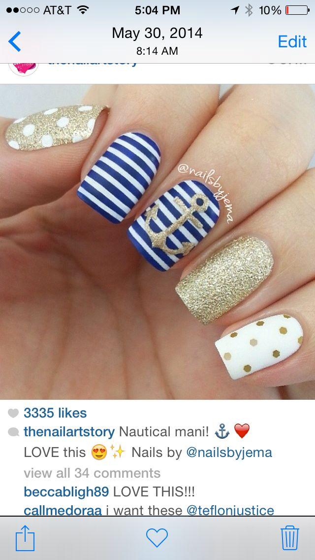 Nautical nails                                                                                                                                                      More