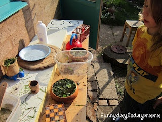 Another outdoor play kitchen