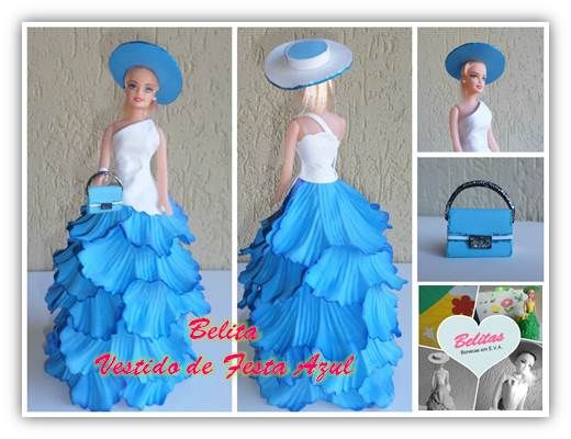 Belita # 7 Vestido Gala Azul www.facebook.com/belitas.eva