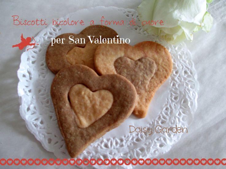 Daisy Garden: biscotti bicolore a forma di cuore per San Valentino