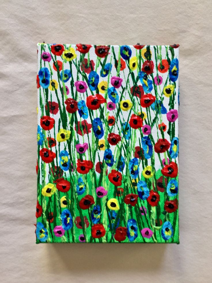 Flower Painting Textured Painting Gift