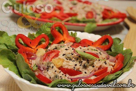 Receita de Salada de Aveia e Atum