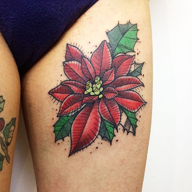 Flor De Pascua Sketch Hecho En Barcelona Tattoo Ink Tatuaje Ink Inked Art Neotraditional Tattoo Tattoos Traditional Tattoo Inspirational Tattoos