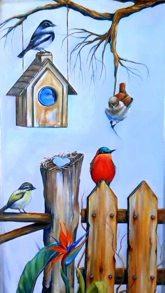 """Friends in the Afternoon"" - oil painting by Xan Virgili ORIGINAL SOLD"
