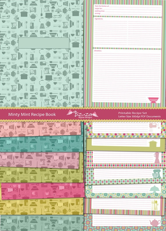 Book Cover Printable January ~ Best images about cooking recipe binder on pinterest