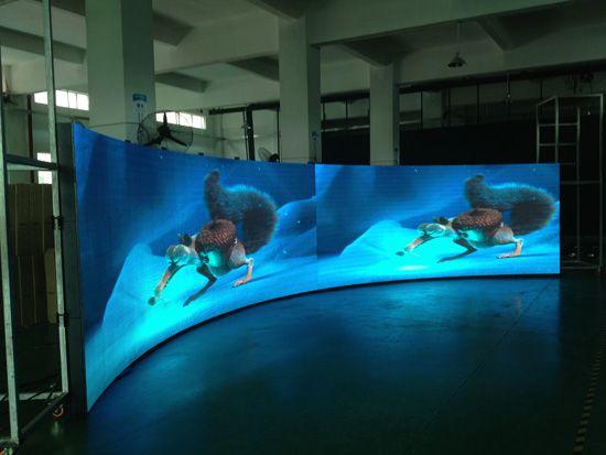 Flexible led screen project in Dubai