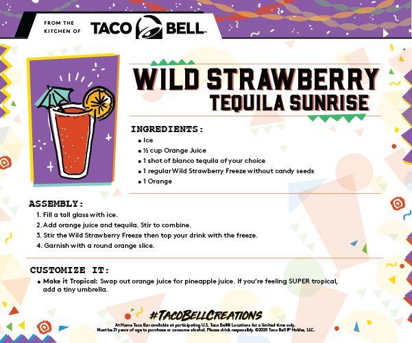 At Home Taco Bar Wild Strawberry Tequila Sunrise Recipe In 2020 Taco Bar Taco Night Tacos