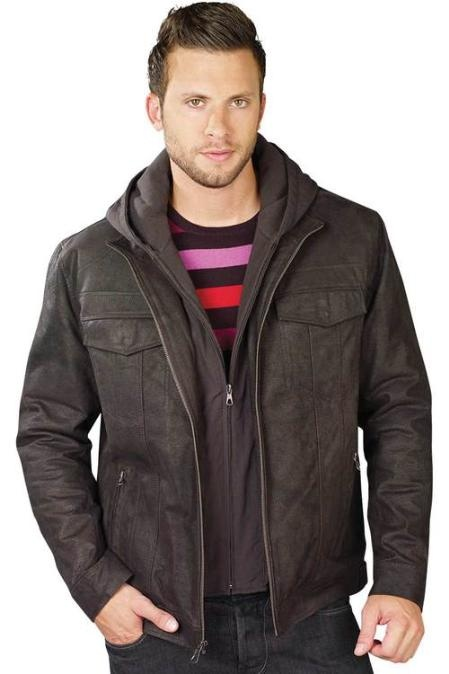 Really good to wear this dark brown leather jacket for only US $139.Buy more save more! Buy 3 items get 5% off, Buy 8 items get 10% off.