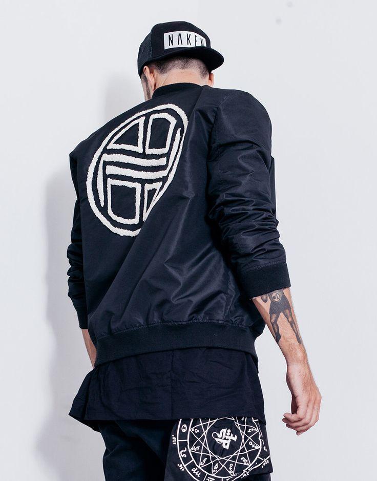 Nemis Logo Bomber Jacket Black