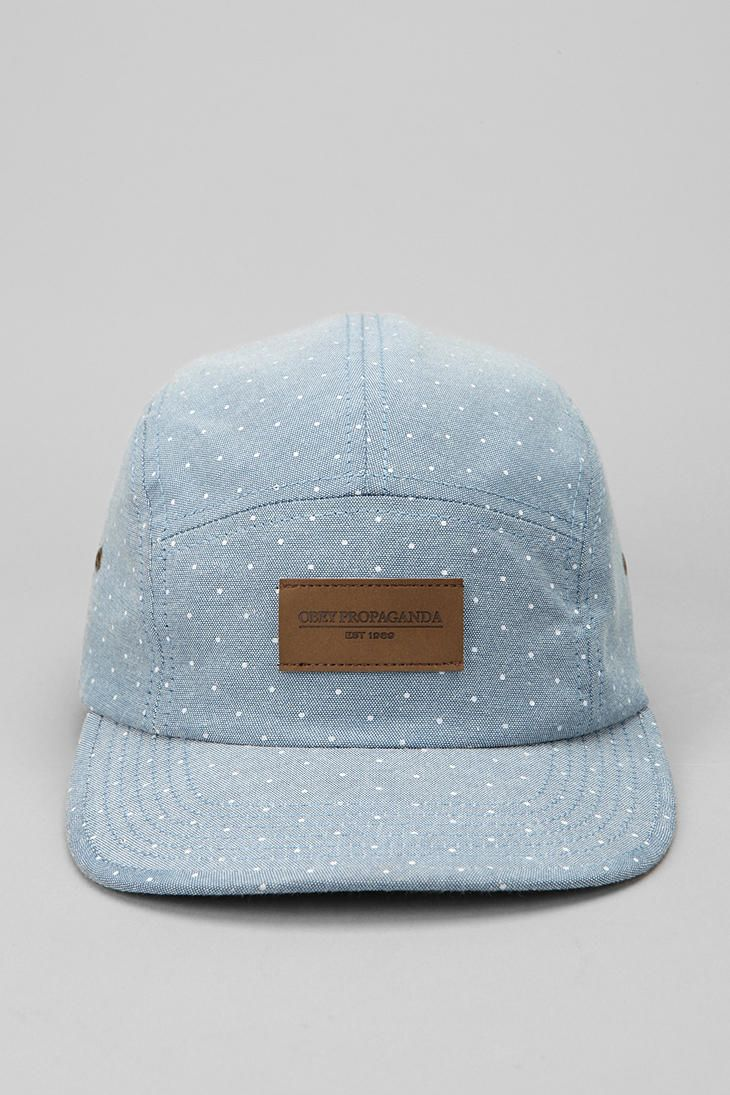 $34.00 OBEY Drip Chambray 5-Panel Hat - why do I love Men's clothing so much?