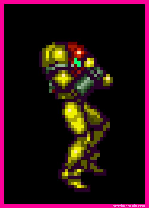 Game Over Samus by Brother Brain. Super Metroid (SNES) Nintendo 1994.