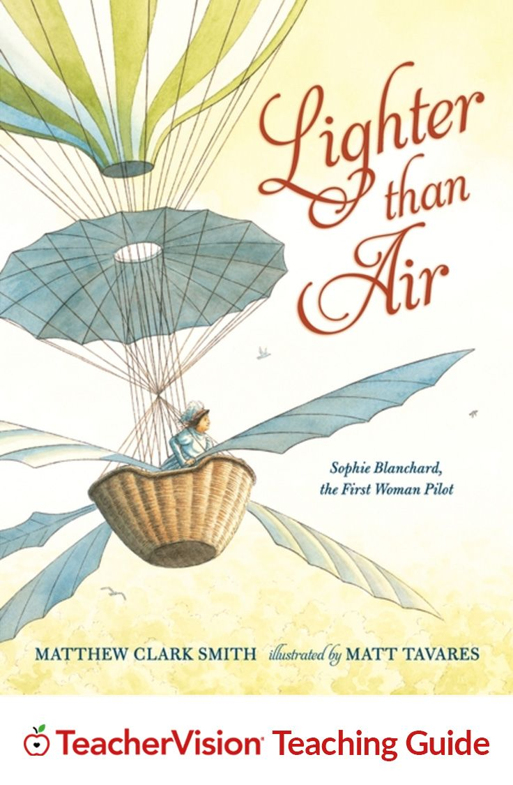 "Lighter Than Air Teaching Guide: Use this teaching guide to integrate the picture-book biography of ""aeronaut"" Sophie Blanchard, the first female pilot, into reading, science and history activities. The ""Lighter Than Air"" Teaching Guide includes discussion questions, printables, and curriculum connections highlighting science, history and design thinking. (Grades 1-4)"