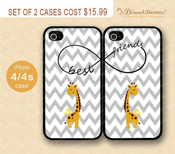 Best friends Giraffe Phone Case by BlessedBazaar, on etsy. This is so cute