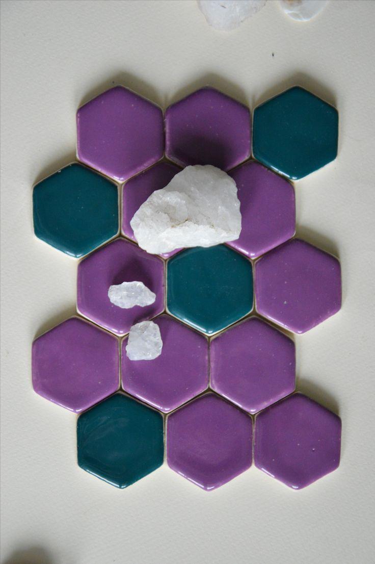 Керамическая мозаика ручной работы. Размер 3х4 см Handemade tile/ Size 3x4 cm