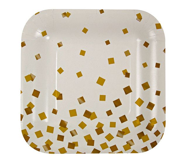 Gold Confetti Paper Plates | | 30th Birthdays | Pinterest ...