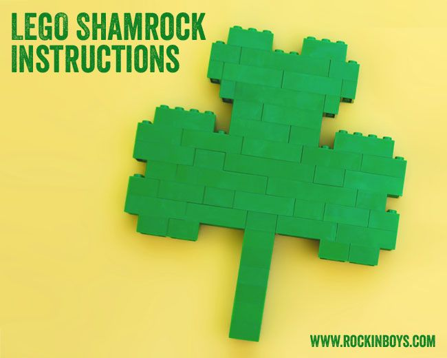 Template for a LEGO Shamrock!