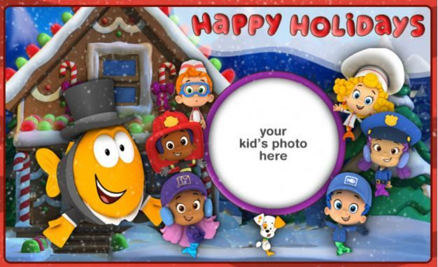Wish friends and family Happy Holidays with the help of the Bubble Guppies!
