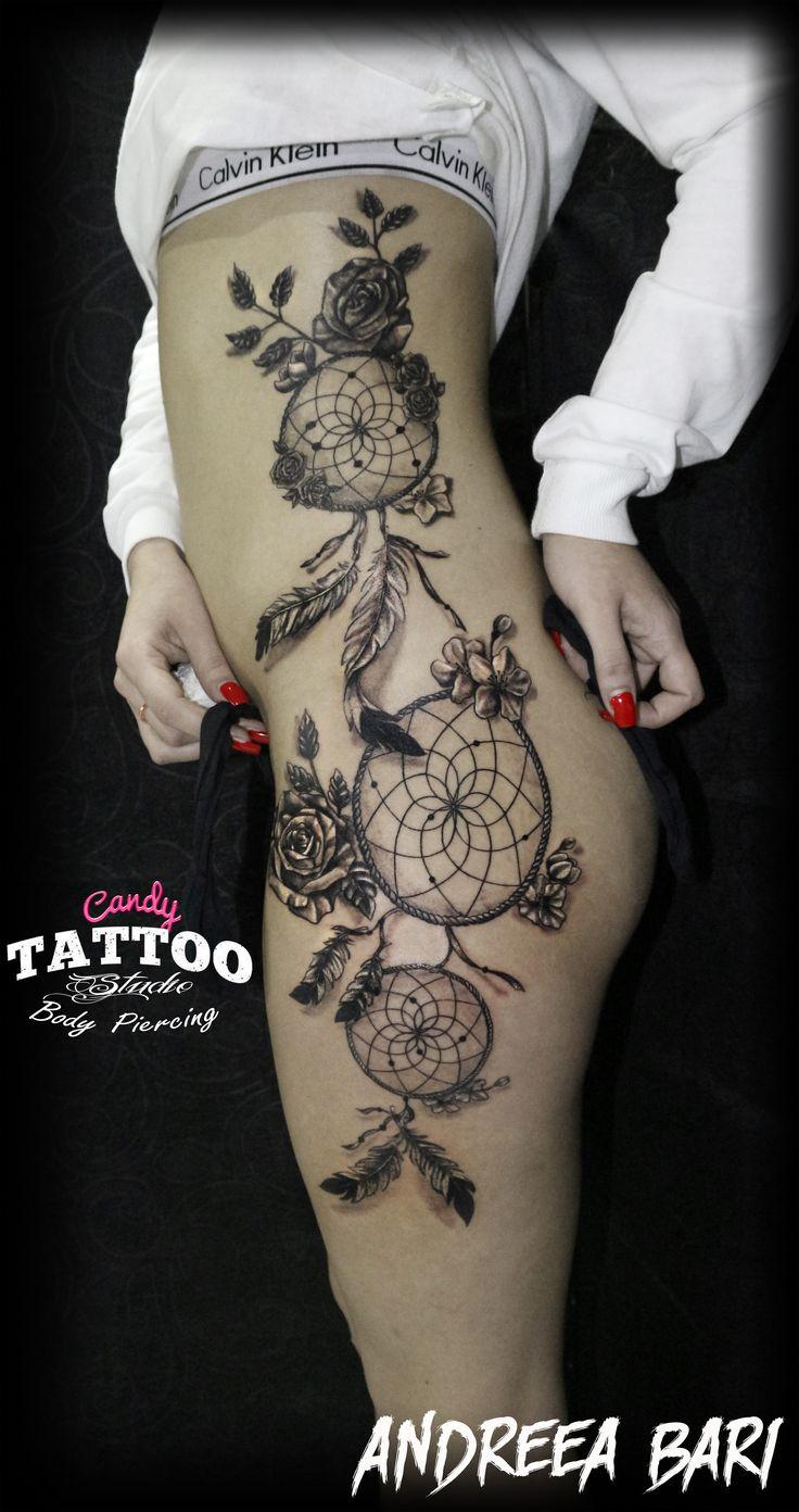 dreamcatcher tattoo gir sexy ideas