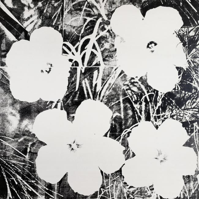 warhol ten foot flowers | Andy Warhol: Ten-foot Flowers, 1967. 293.3 x 293.2 cm, Siebdruckfarbe ...