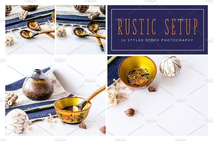 Rustic photo mockups styled for websites, blogs and social media. Gold and navy mockup. $29 https://crmrkt.com/DAe2O #affiliate