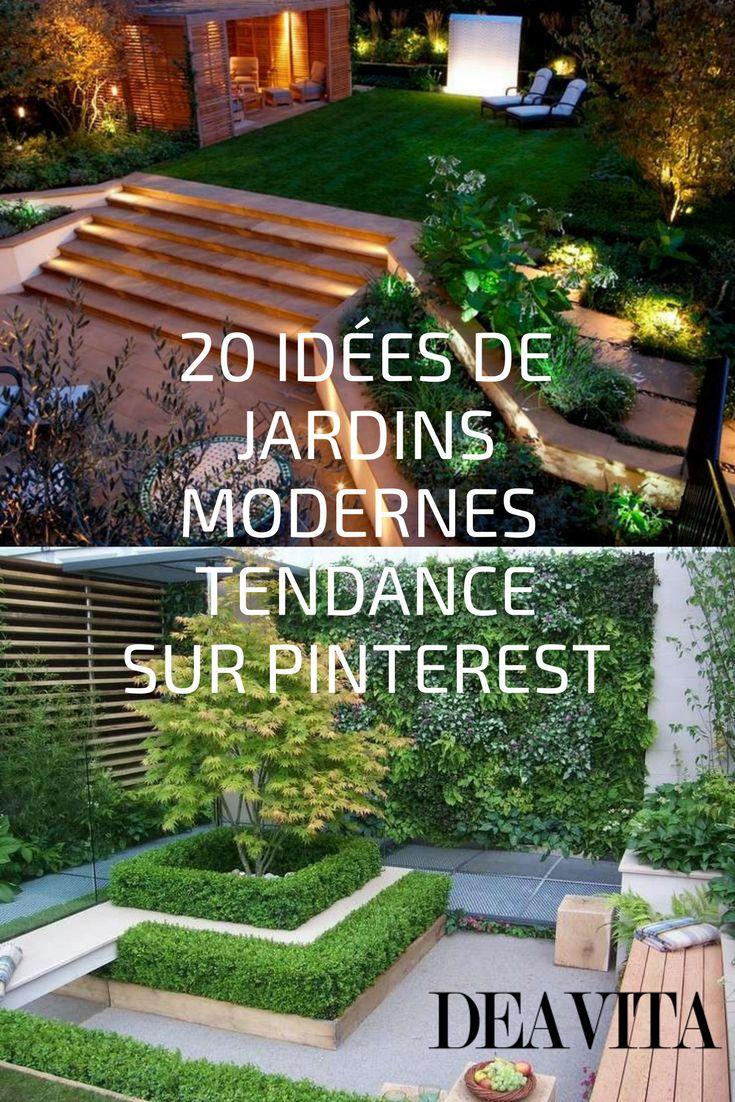 les 25 meilleures id es de la cat gorie jardins modernes sur pinterest cr ation de jardin. Black Bedroom Furniture Sets. Home Design Ideas